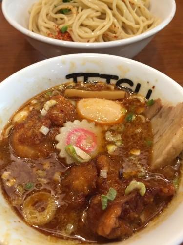 tetu ラクーア店 つけ麺+唐揚げ